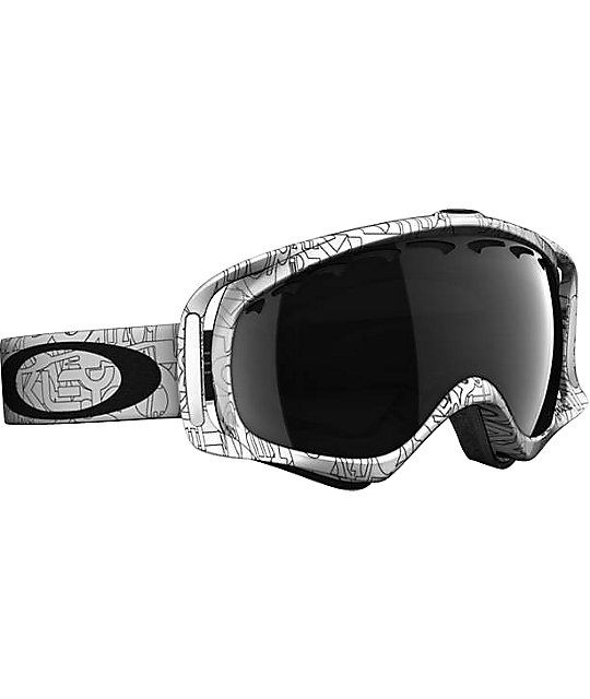 oakley goggles white  Oakley Crowbar Factory Text White Snowboard Goggles at Zumiez : PDP