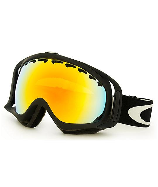 Oakley Crowbar Matte Black & Fire Iridium Snow Goggles