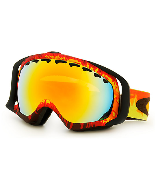 Oakley Crowbar Shockwave Fire Snowboard Goggles