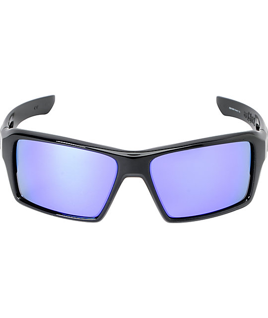 Oakley Eyepatch 2 Black & Violet Iridium Sunglasses