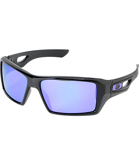 Oakley eyepatch 2 polished black violet iridium sunglasses lenses