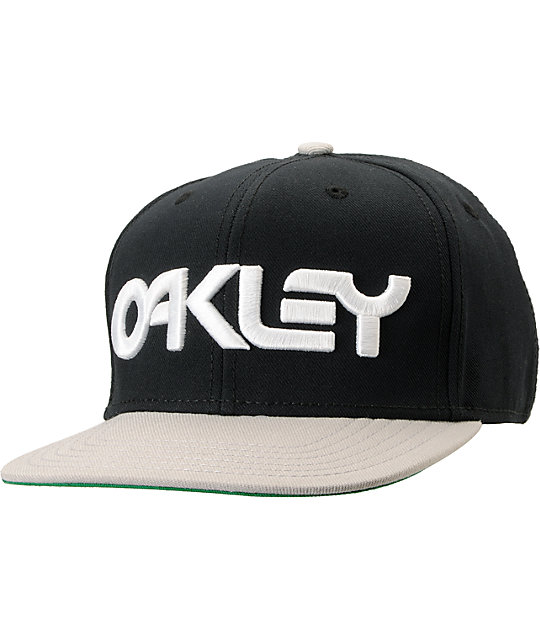 Oakley Factory O-Justable Black & Grey Snapback Hat