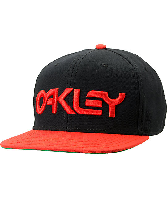 Oakley Factory O-Justable Black & Red Snapback Hat