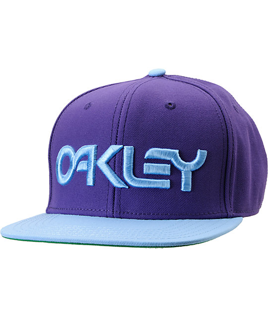 Oakley Factory O-Justable Purple & Cyan Snapback Hat