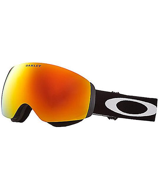 Oakley Flight Deck Matte Black Fire Iridescent Snowboard Goggles