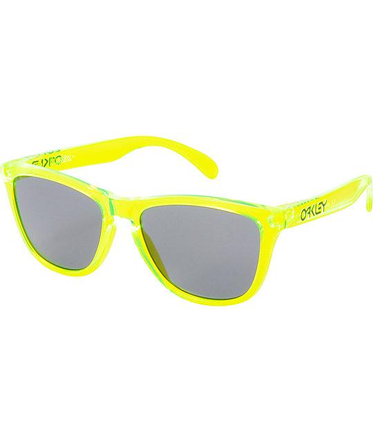 oakley sunglasses green nqcz  Oakley Frogskins Acid Green Sunglasses
