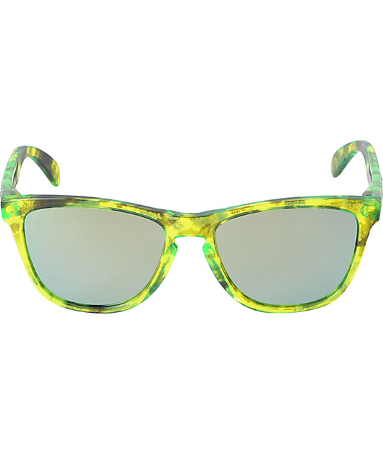 Oakley Frogskins Acid Tortoise Green Sunglasses