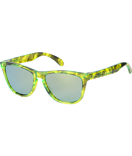 oakley frogskins acid tortoise blue sunglasses  oakley frogskins acid tortoise green sunglasses