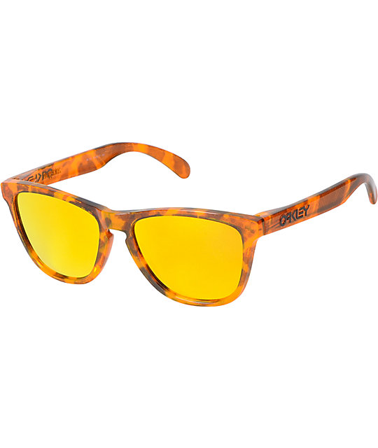 oakley frogskins acid tortoise blue sunglasses  oakley frogskins acid tortoise orange sunglasses