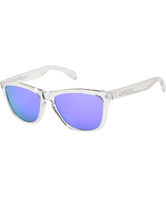Oakley Frogskins Clear & Violet Iridium Sunglasses