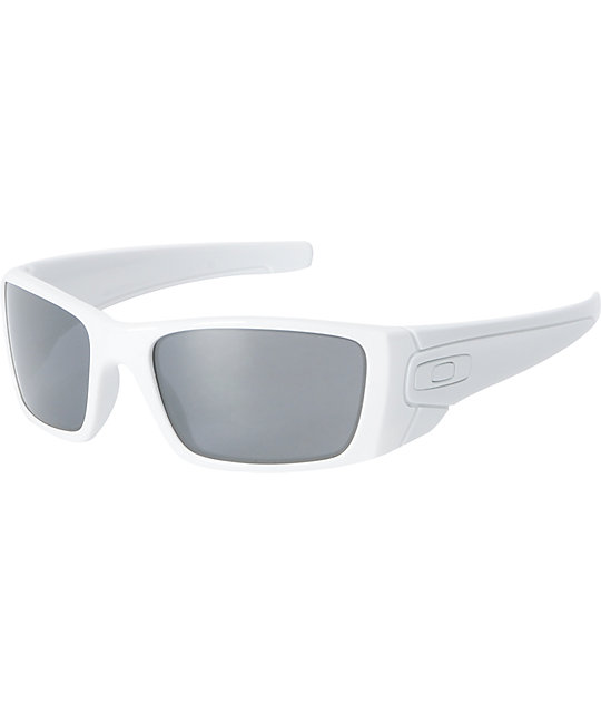 Oakley Fuel Cell White & Black Iridium Sunglasses