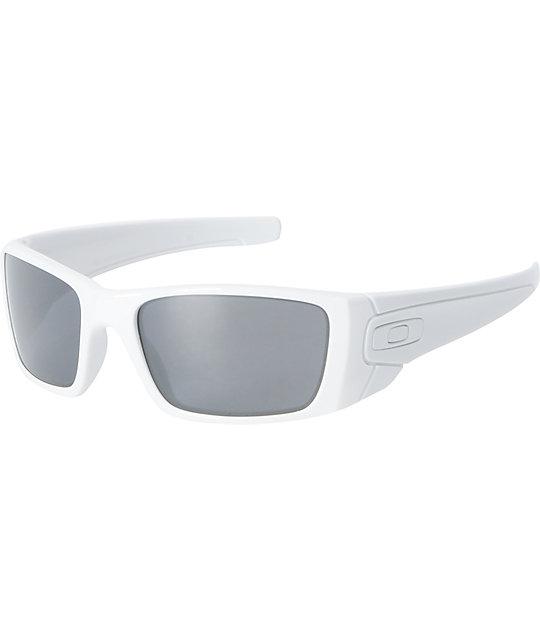 oakley sunglasses white  Oakley Fuel Cell White \u0026 Black Iridium Sunglasses at Zumiez : PDP