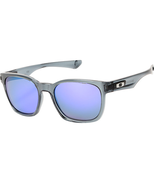 Oakley Garage Rock Crystal Black & Violet Iridium Sunglasses