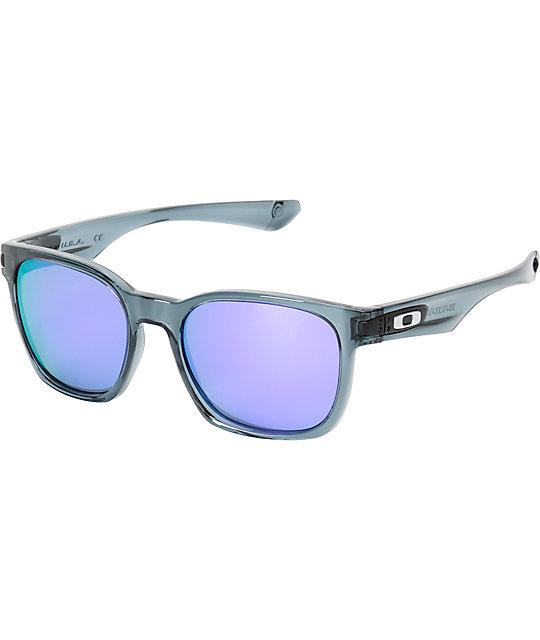 oakley womens garage rock sunglasses  oakley garage rock crystal black & positive red iridium sunglasses