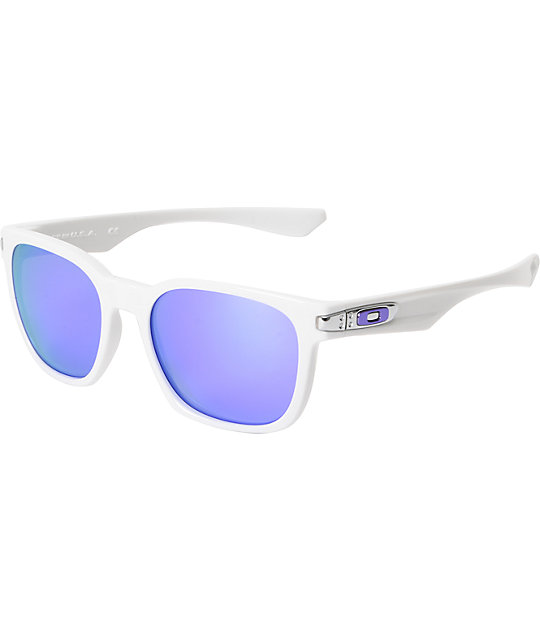 Oakley Garage Rock Gloss White & Violet Iridium Sunglasses