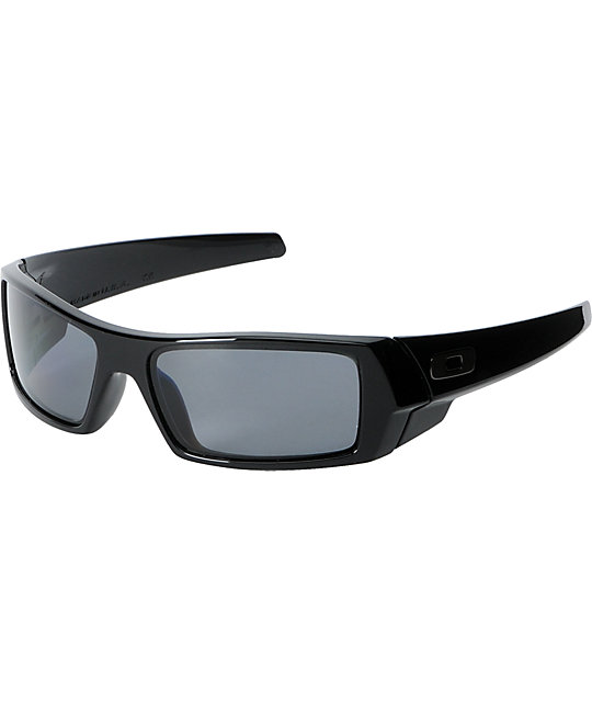 black oakley gascan sunglasses u41w  Oakley Gascan Polished Black With Grey Lens Sunglass