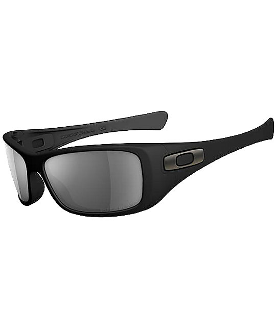 Oakley Hijinx Matte Black & Grey Polarized Sunglasses