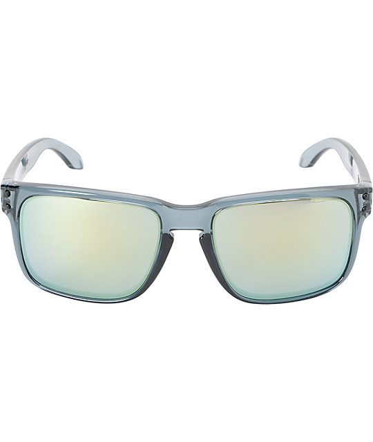 Oakley Holbrook Crystal Black & Emerald Iridium Sunglasses