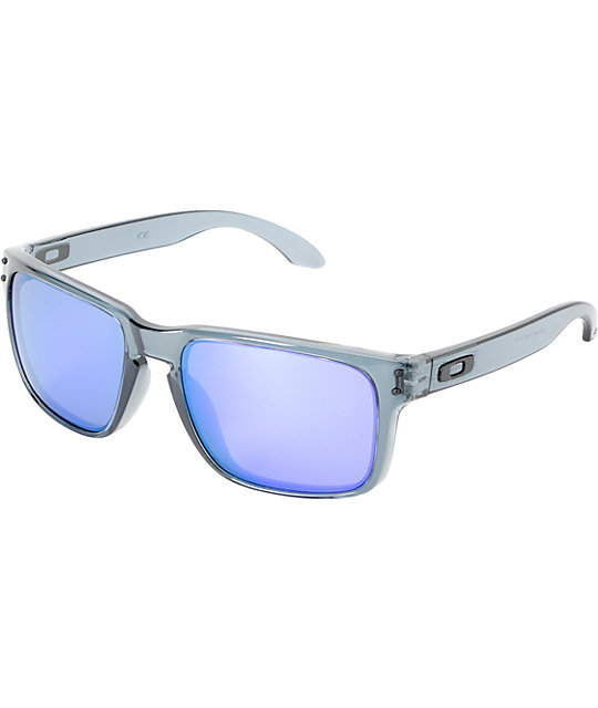 black oakley holbrook sunglasses ay24  Oakley Holbrook Crystal Black & Violet Iridium Sunglasses