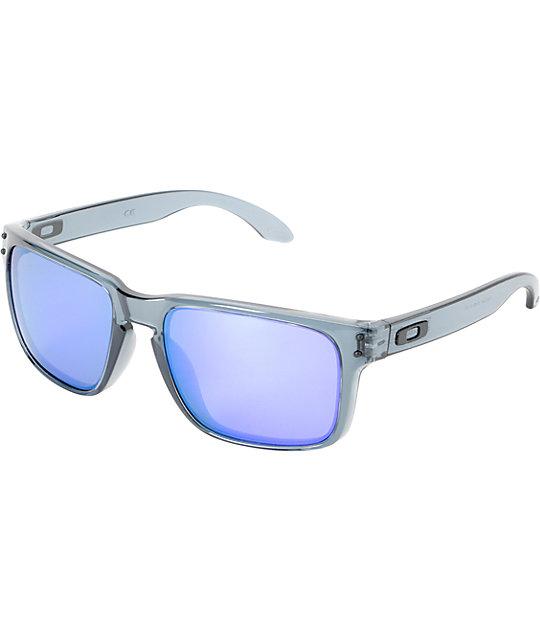 black oakley holbrook sunglasses ay24  Oakley Holbrook Crystal Black & Violet Iridium Sunglasses