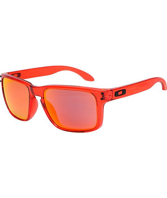 Oakley Holbrook Crystal Red & Ruby Iridium Sunglasses