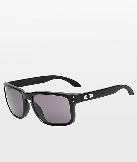 oakley matte black sunglasses ve7d  Oakley Holbrook Matte Black & Warm Grey Glasses