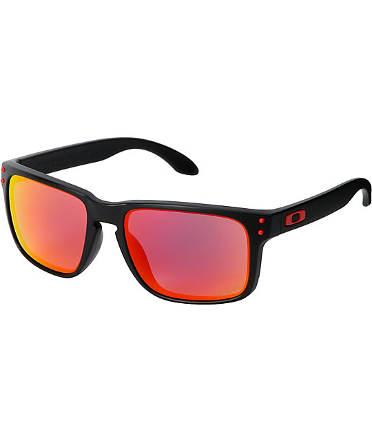 oakley sunglasses black b5ai  Oakley Holbrook Nick Hayden Ducati Black & Red Sunglasses