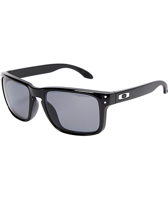 Oakley Holbrook Polished Black & Grey Polarized Sunglasses