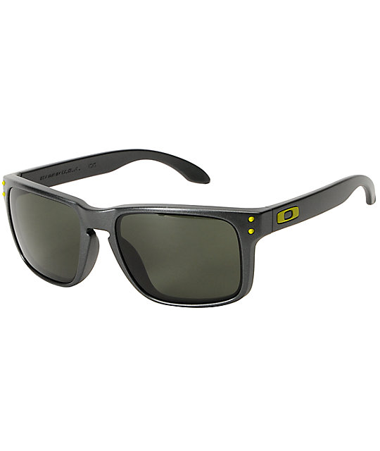 oakley sunglasses zumiez  oakley holbrook steel & dark grey sunglasses