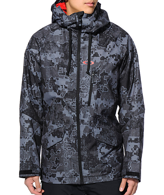 oakley snowboard  Oakley Mission Black 10K Snowboard Jacket at Zumiez : PDP