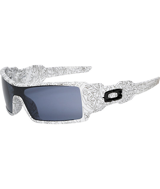 Oakley Oil Rig White Text Sunglasses