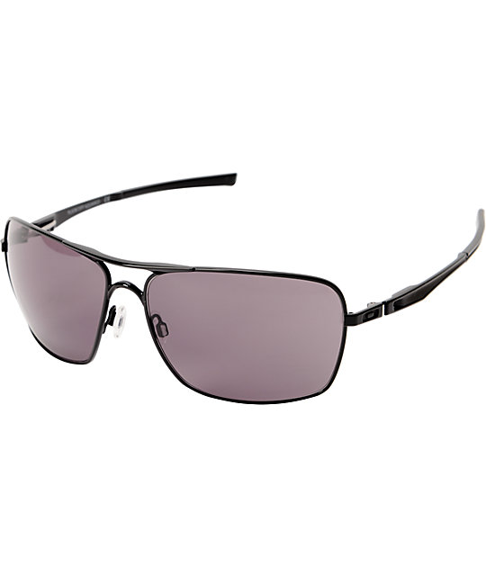 Oakley Plaintiff Squared Black & Grey Sunglasses