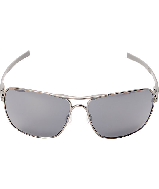 75939634a12 Oakley Plaintiff Squared Silver   Black Iridium Sunglasses