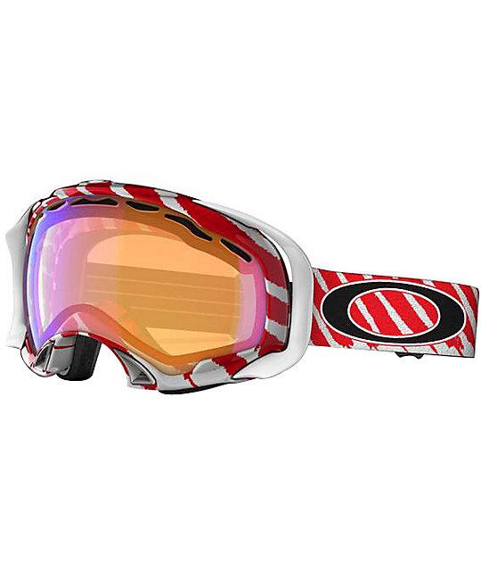 Oakley Shaun White Splice White & Red Snowboard Goggles