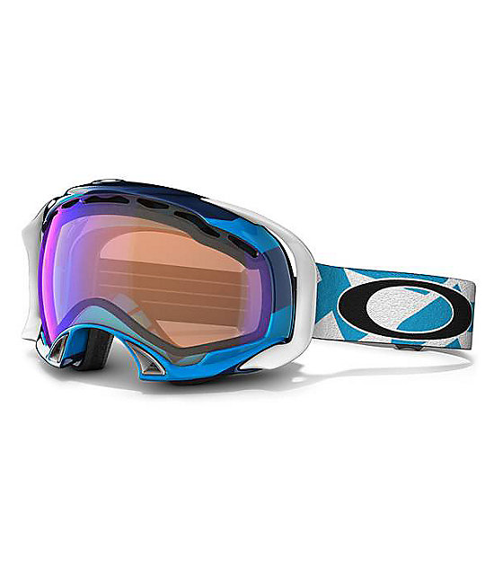 Oakley Splice Fact Slant Black & Blue Snowboard Goggles