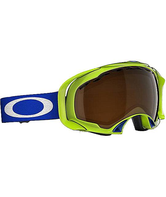 Oakley Splice Lightning Green Snowboard Goggles