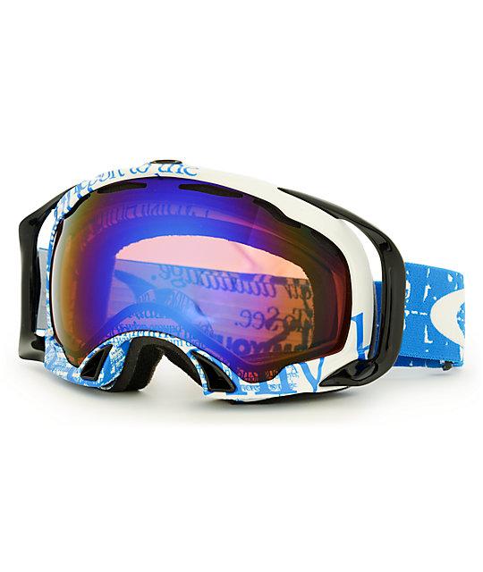 oakley splice goggle lenses  Oakley Splice Tagline Utility Blue \u0026 Blue Iridium Goggle at Zumiez ...