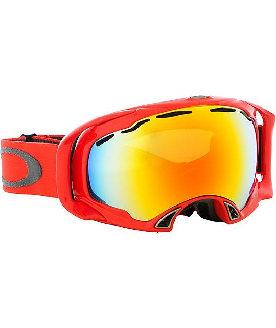 Oakley Splice Viper Red Snowboard Goggles