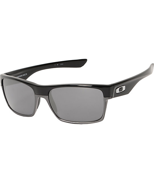 iegxx Oakley Two Face All Black Iridium Polished Sunglasses at Zumiez : PDP