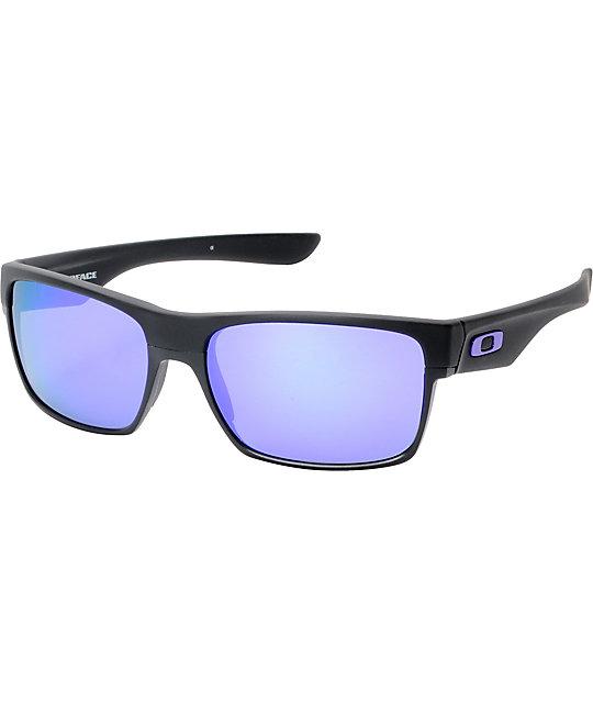 Oakley TwoFace Matte Black & Violet Iridium Sunglasses