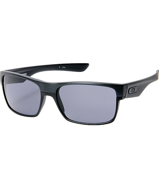cool oakley sunglasses 50fn  Oakley TwoFace Steel Black & Grey Sunglasses