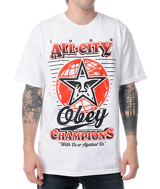 Obey 89 Champs White T-Shirt