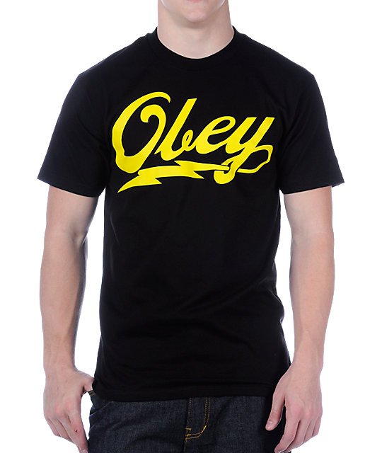 Obey About To Bolt Black T-Shirt