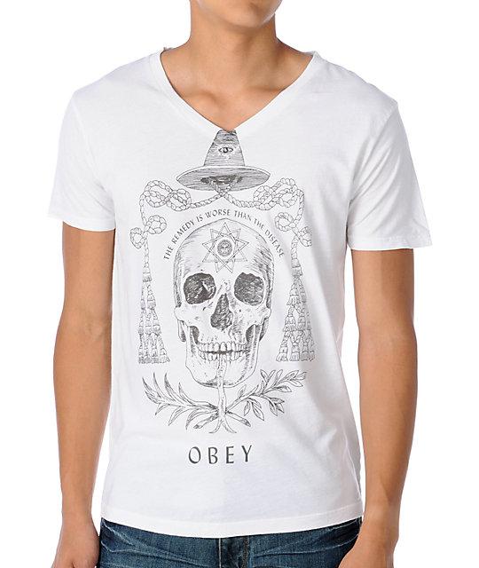 Obey Alchemist V-Neck T-Shirt