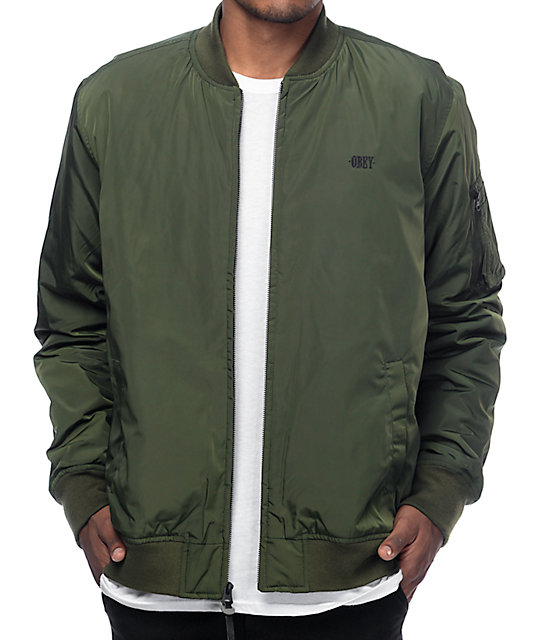 Obey Alden Army Bomber Jacket