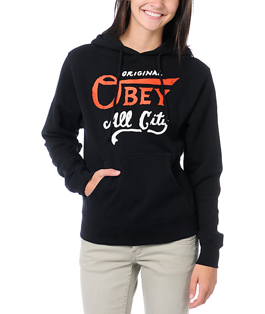 Obey All City Champs Black Pullover Hoodie