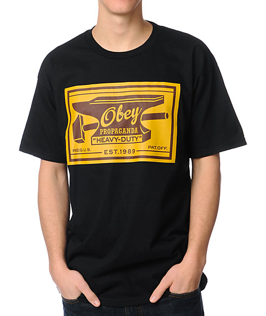 Obey Anvil Black T-Shirt