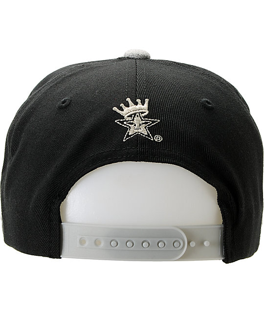 Obey Athletics Black & Heather Grey Snapback Hat