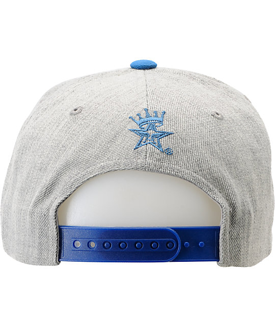 Obey Athletics Heather Grey & Blue Snapback Hat
