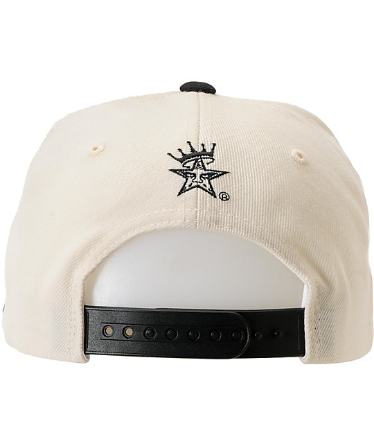Obey Athletics Natural White & Orange Snapback Hat